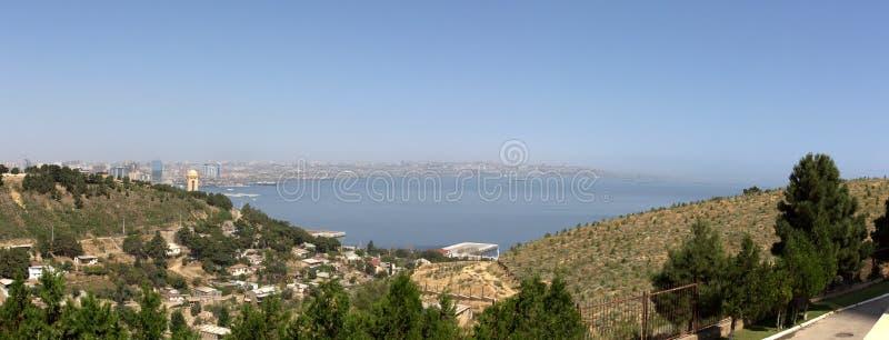 Panorama de la ciudad de Baku fotografía de archivo