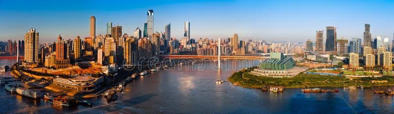 Panorama de la ciudad de Chongqing fotografía de archivo libre de regalías