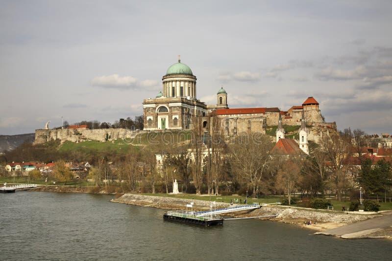 Panorama de la ciudad de Esztergom hungría imagen de archivo libre de regalías