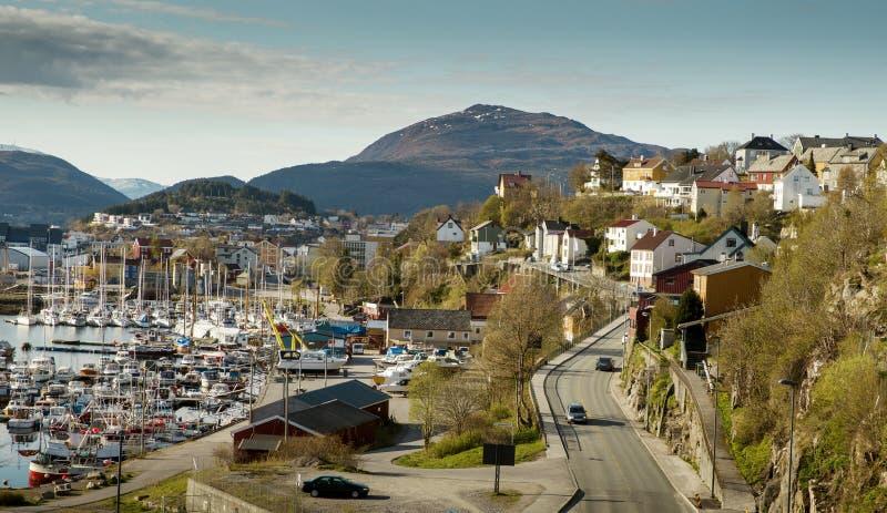 Panorama de la ciudad de Kristiansund foto de archivo libre de regalías