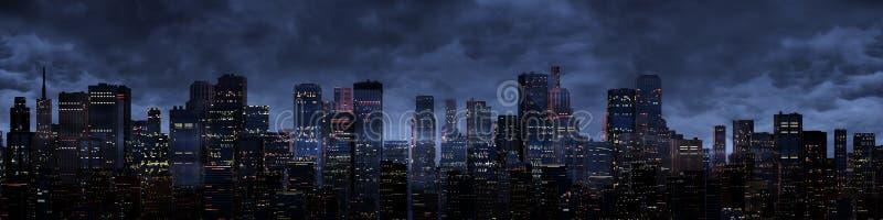 Panorama de la ciudad de la noche