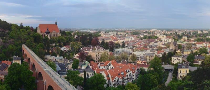 Panorama de la ciudad de Modling en una Austria más baja foto de archivo libre de regalías