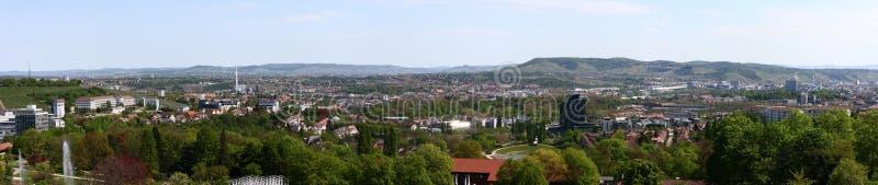Panorama de la ciudad de Stuttgart imágenes de archivo libres de regalías