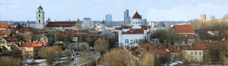 Panorama de la ciudad de Vilnius fotos de archivo