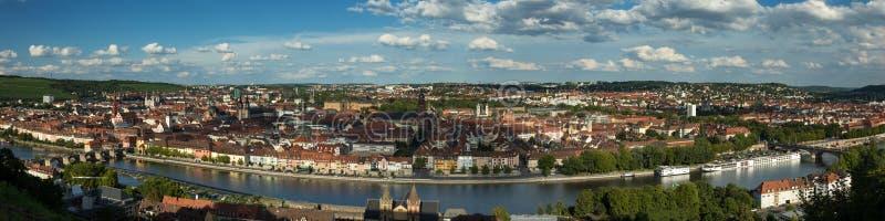 Panorama de la ciudad de Wurzburg fotografía de archivo libre de regalías