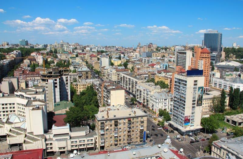 Panorama de la ciudad de Kiev, Ucrania foto de archivo