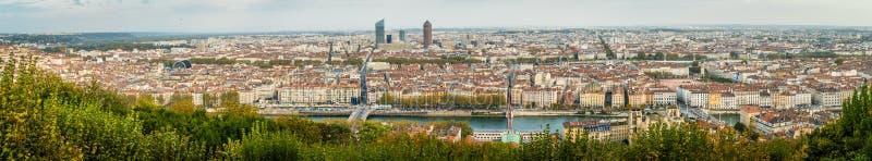 Panorama de la ciudad Lyon en Francia imágenes de archivo libres de regalías
