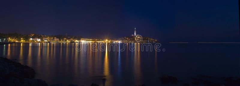 Panorama de la ciudad de Rovinj fotografía de archivo libre de regalías