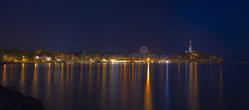 Panorama de la ciudad de Rovinj fotografía de archivo