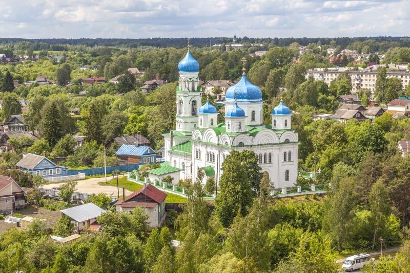 Panorama de la ciudad de Torzhok imágenes de archivo libres de regalías