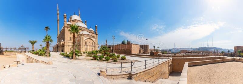 Panorama de la ciudadela de El Cairo, opinión hermosa del día, Egipto imágenes de archivo libres de regalías