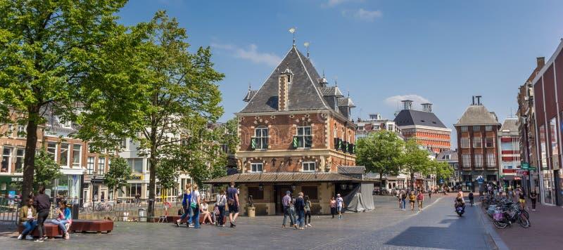 Panorama de la construcción de viviendas del pesaje en Leeuwarden fotos de archivo libres de regalías