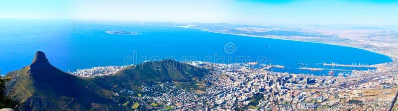 Panorama de la costa de Ciudad del Cabo foto de archivo
