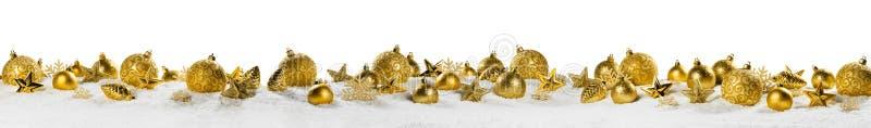 Panorama de la decoración de la Navidad en blanco foto de archivo libre de regalías