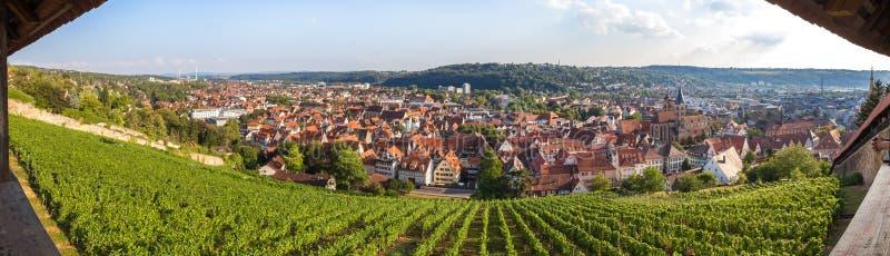 Panorama de la definición de Alemania del esslingen de la ciudad histórica alto fotos de archivo libres de regalías