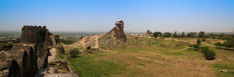 Panorama de la fortaleza de Rohtas en Punjab Paquistán fotografía de archivo