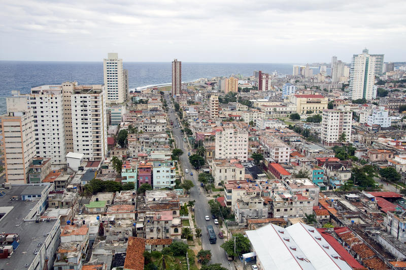 Panorama de La Habana, Cuba foto de archivo