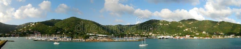 Panorama de la isla de Tortola fotos de archivo libres de regalías