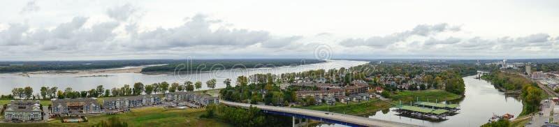 Panorama de la isla fangosa fotografía de archivo libre de regalías