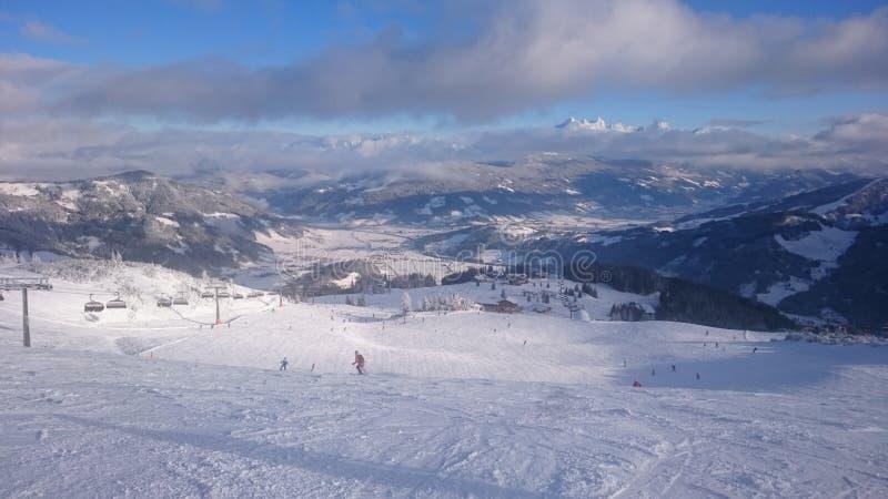 Panorama de la nieve fotografía de archivo libre de regalías