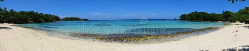 Panorama de la playa de Winnifred, Jamaica foto de archivo