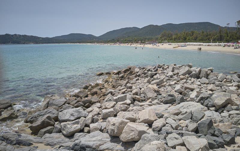 Panorama de la playa de los sinzias de Cala foto de archivo libre de regalías