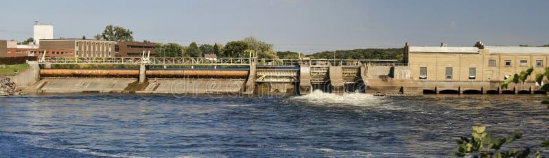 Panorama de la presa de Mississippi imagen de archivo