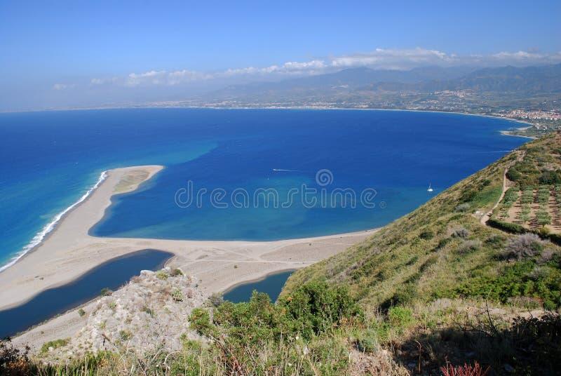 Panorama de la réserve naturelle de Laghetti di Marinello image stock