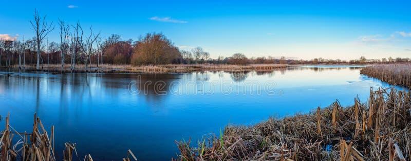 Panorama de la reserva de naturaleza de la charca de Arcot fotos de archivo