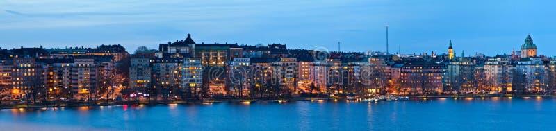 Panorama de la tarde de Estocolmo foto de archivo libre de regalías