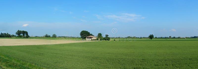 Panorama de la vallée de PO dans la campagne de Bologna, Italie photos stock