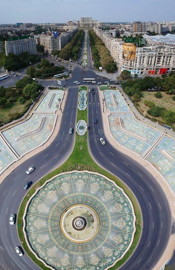Panorama de la vertical de la ciudad imagen de archivo