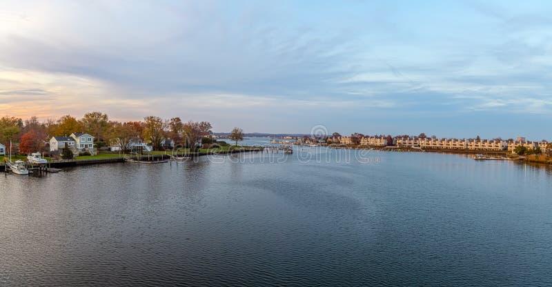 Panorama de la vie en front de mer photo stock