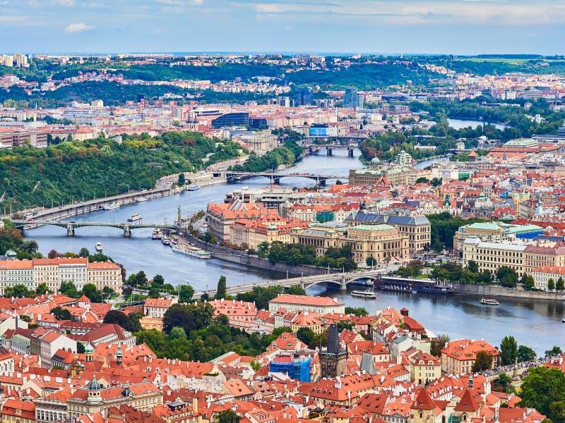 Panorama de la vieille ville à Prague, République Tchèque photos stock