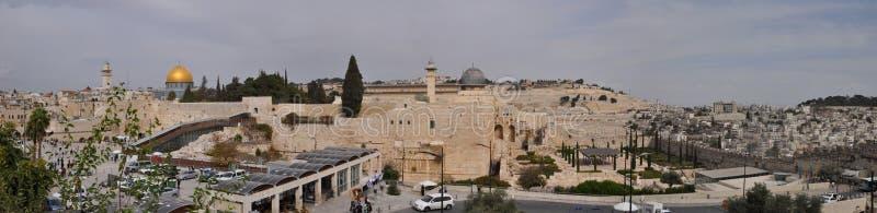 Panorama de la vieille ville de Jérusalem photo libre de droits