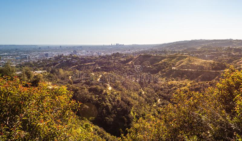 Panorama de la ville i de Los Angeles photo stock