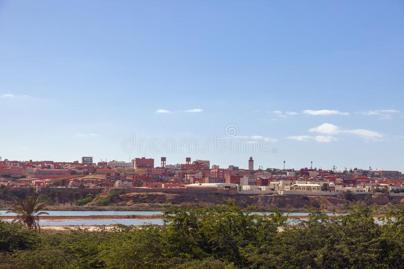 Panorama de Laayoune photo libre de droits