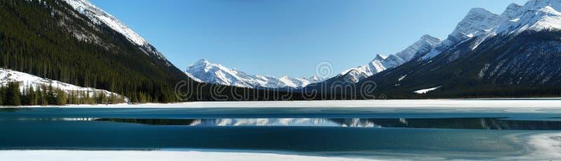 Panorama de lac de montagne photographie stock
