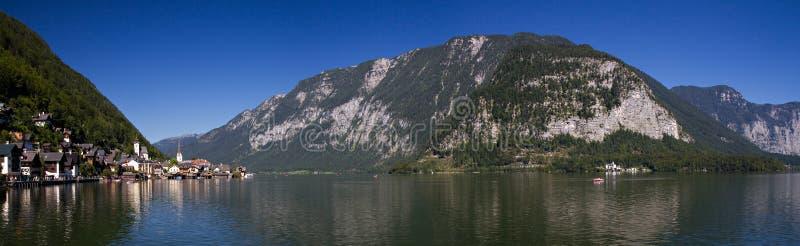 Panorama de lac Hallstatt photographie stock libre de droits