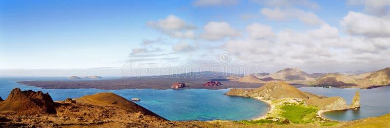 Panorama de las islas de las Islas Gal3apagos foto de archivo libre de regalías