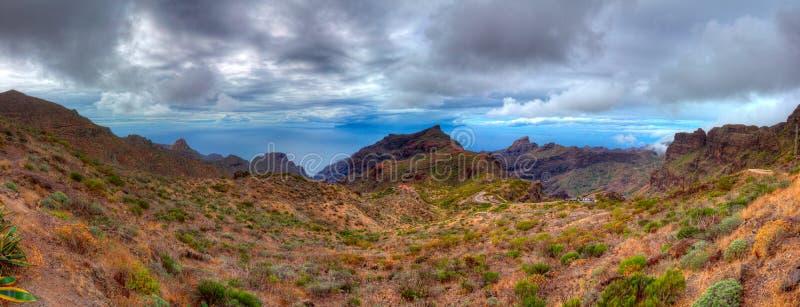 Panorama de las montañas de Teide Tenerife Islas Canarias españa foto de archivo