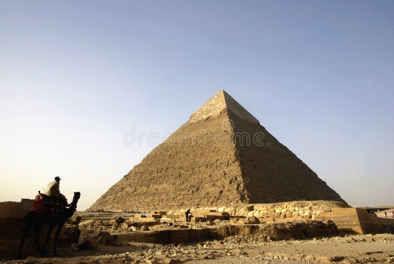 Panorama de las pirámides de Giza de El Cairo, Egipto imagenes de archivo