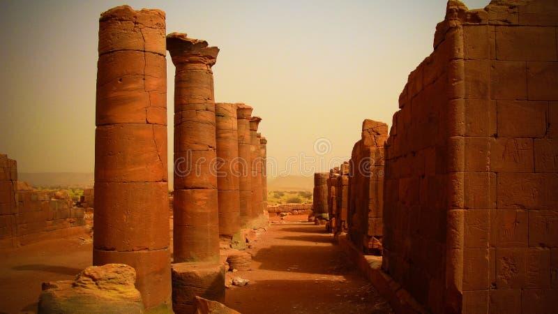 Panorama de las ruinas de Musawwarat es-Sufra, Meroe, Sudán imagen de archivo libre de regalías