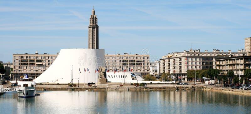 Panorama de Le Havre: el volcán imagen de archivo libre de regalías