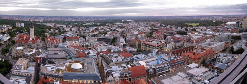 Panorama de Leipzig imágenes de archivo libres de regalías