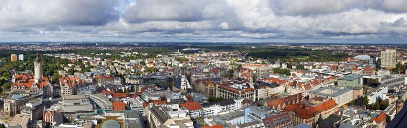 Panorama de Leipzig foto de stock royalty free