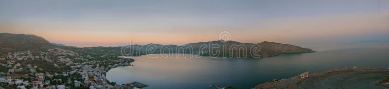 Panorama de Leros fotos de stock royalty free