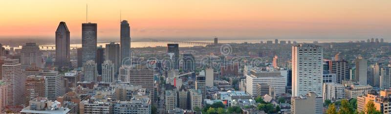 Panorama de lever de soleil de Montréal photos libres de droits