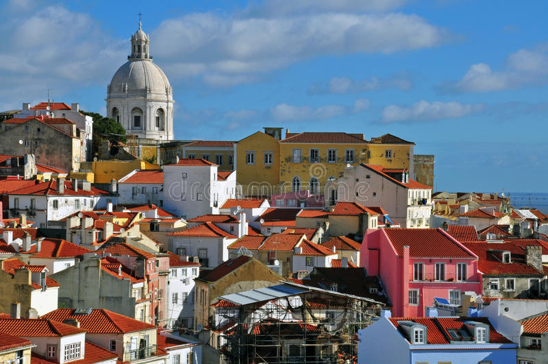 Panorama de Lisboa fotos de archivo libres de regalías