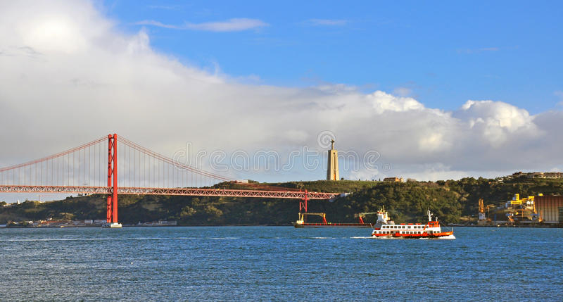 Panorama de Lisboa, Portugal fotos de archivo